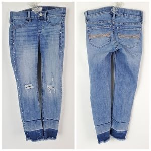 Abercrombie & Fitch Embelished Destressed Jeans